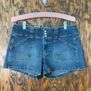 Vintage old navy jean shorts button fly low rise 6
